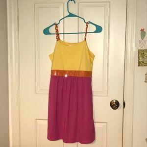 Xhilaration Dresses - Xhilaration yellow & pink sundress (Target)